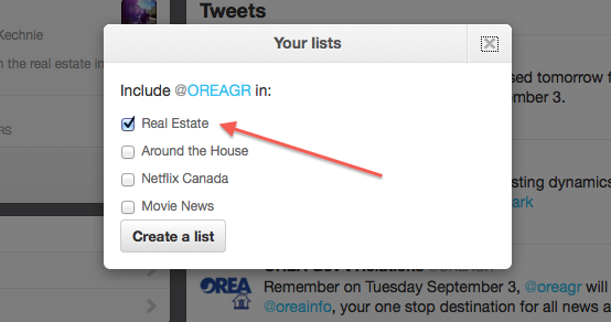 Twitter - Your lists