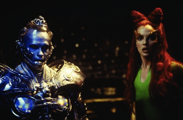 Arnold Schwarzenegger as Mr. Freeze and Uma Thurman as Poison Ivy in 'Batman & Robin'.
