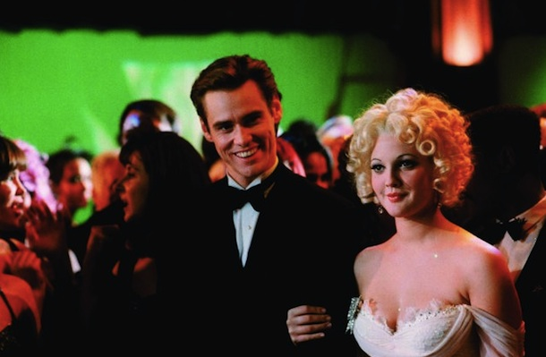 Jim Carrey and Drew Barrymore in 'Batman Forever'.