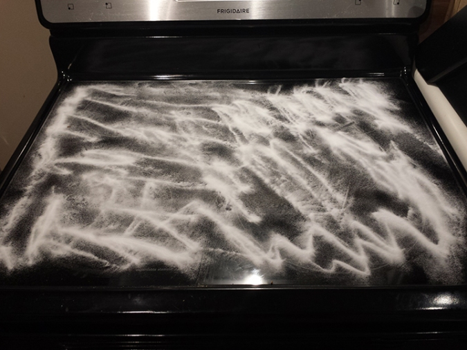 Cleaning glass cooktop
