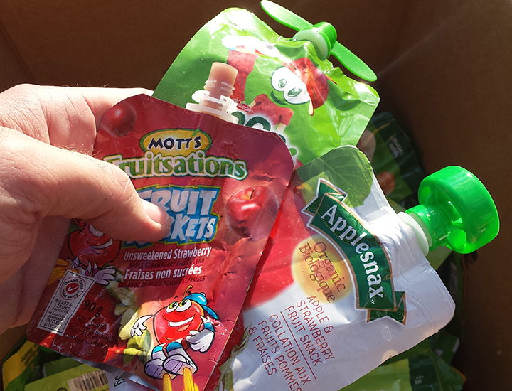 Recycle snack pouches