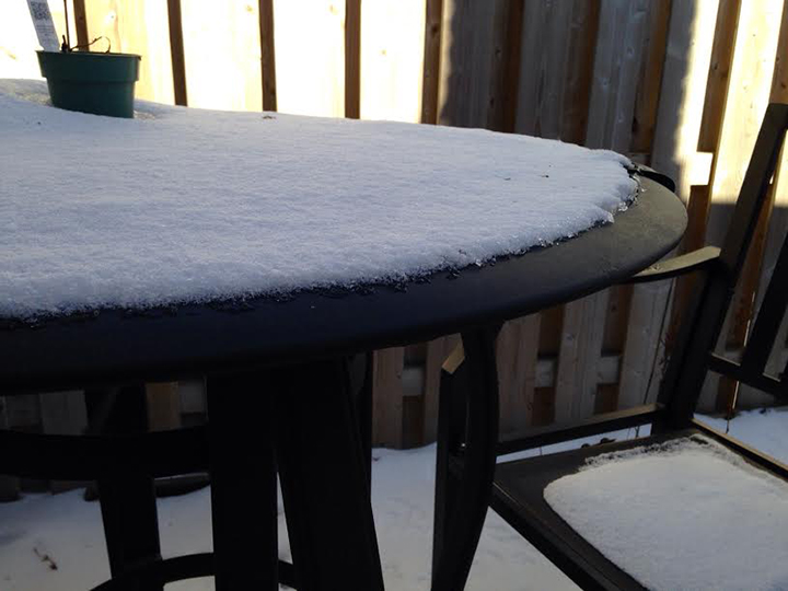 Patio snow