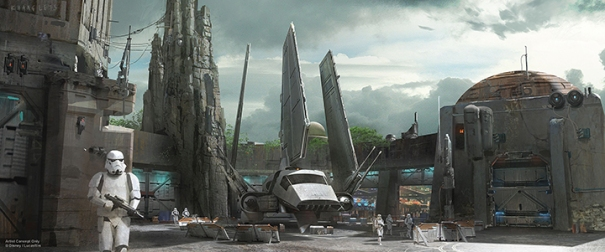 Disney's Star Wars land concept art
