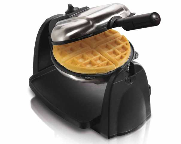 Flip Belgian Waffle Baker with Removable Grids